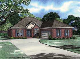 European, Traditional House Plan 62136 with 3 Beds, 2 Baths, 2 Car Garage Elevation