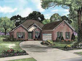 House Plan 62137 | Traditional Style Plan with 2413 Sq Ft, 3 Bedrooms, 3 Bathrooms, 2 Car Garage Elevation
