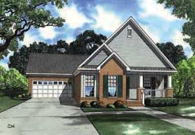 Southern , Traditional House Plan 62139 with 3 Beds, 2 Baths, 2 Car Garage Elevation