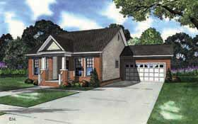 Bungalow Southern House Plan 62141 Elevation