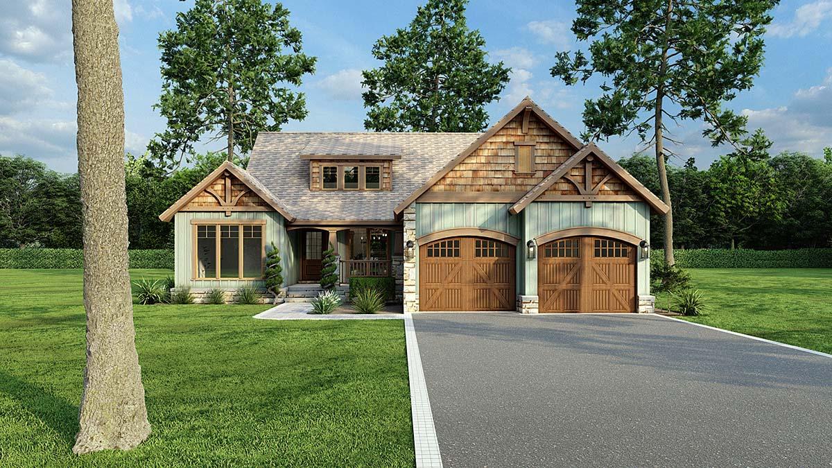 Bungalow Country Craftsman Tudor House Plan 62143 Elevation