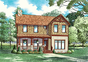Bungalow , Country , Southern House Plan 62144 with 3 Beds, 2 Baths, 2 Car Garage Elevation