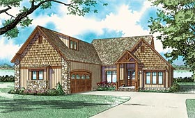 Bungalow , Country , Craftsman House Plan 62145 with 3 Beds, 2 Baths, 2 Car Garage Elevation