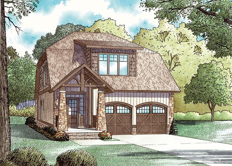 Bungalow Country Craftsman House Plan 62147 Elevation