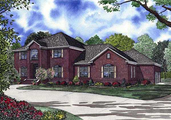Colonial, Southern House Plan 62153 with 4 Beds, 5 Baths, 3 Car Garage Elevation