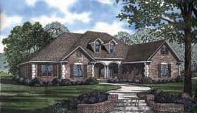 European , Traditional House Plan 62169 with 5 Beds, 4 Baths, 3 Car Garage Elevation