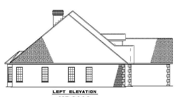 European, Traditional House Plan 62169 with 5 Beds, 4 Baths, 3 Car Garage Picture 1