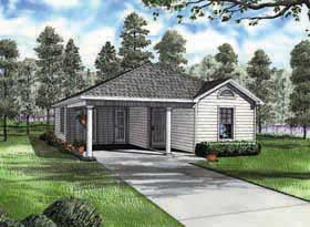 Plan Number 62171 - 1070 Square Feet