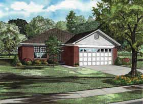 House Plan 62173 Elevation