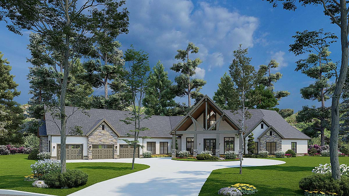 House Plan 62174 Elevation