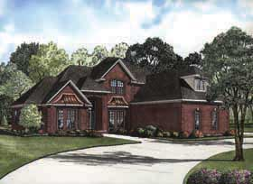 Traditional House Plan 62175 with 4 Beds, 3 Baths, 2 Car Garage Elevation