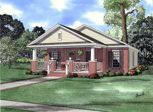Bungalow House Plan 62176 Elevation