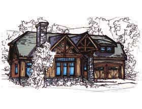 Bungalow, Country, Craftsman House Plan 62180 with 3 Beds, 2 Baths, 2 Car Garage Elevation
