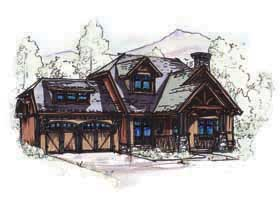 Bungalow , Country , Craftsman House Plan 62183 with 3 Beds, 3 Baths, 2 Car Garage Elevation