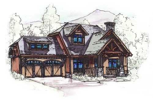 Bungalow, Country, Craftsman House Plan 62183 with 3 Beds, 3 Baths, 2 Car Garage Elevation