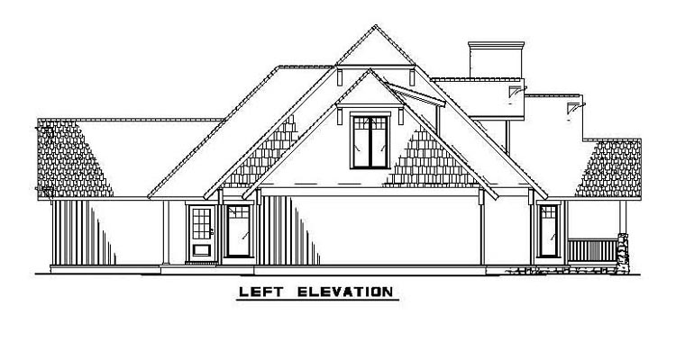 Bungalow, Country, Craftsman House Plan 62183 with 3 Beds, 3 Baths, 2 Car Garage Picture 2
