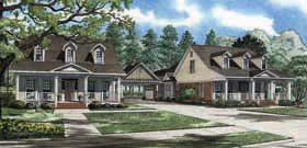 Multi-Family Plan 62187 | Cape Cod Country Southern Style Plan with 4630 Sq Ft, 8 Bedrooms, 4 Bathrooms, 4 Car Garage Elevation