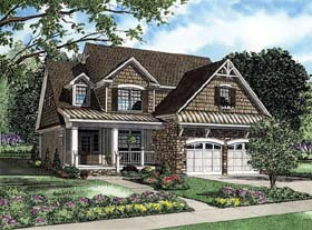 Bungalow , Country , Traditional House Plan 62191 with 3 Beds, 3 Baths, 1 Car Garage Elevation