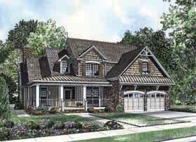Bungalow Country Farmhouse Southern House Plan 62192 Elevation