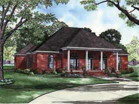 Colonial Southern House Plan 62195 Elevation