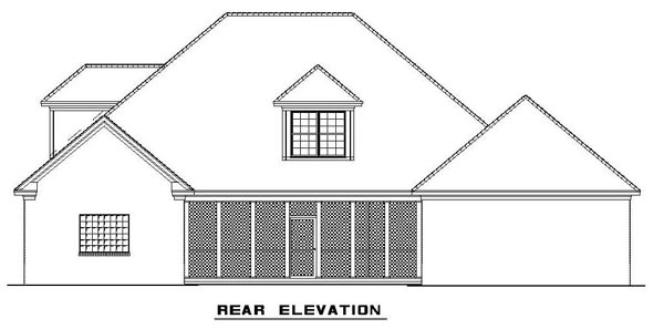 Colonial Southern House Plan 62195 Rear Elevation