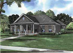 House Plan 62197 | Country Style Plan with 1689 Sq Ft, 3 Bedrooms, 2 Bathrooms, 2 Car Garage Elevation
