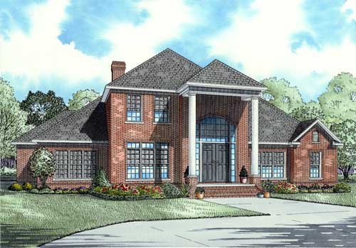 Bungalow Country European House Plan 62202 Elevation