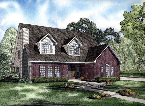 Cape Cod Traditional House Plan 62203 Elevation