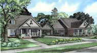 Colonial Traditional Multi-Family Plan 62204 Elevation
