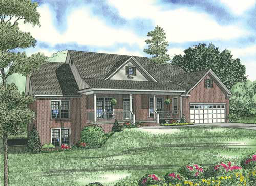 Country Traditional House Plan 62206 Elevation