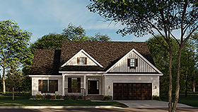 Country Ranch Traditional House Plan 62208 Elevation