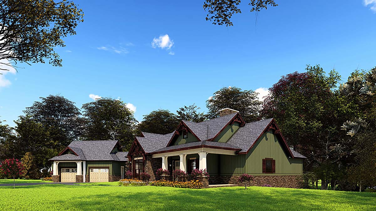 House Plan 62209 with 4 Beds, 5 Baths, 2 Car Garage Picture 1
