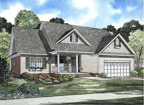 Country, Ranch, Traditional House Plan 62210 with 3 Beds, 2 Baths Elevation