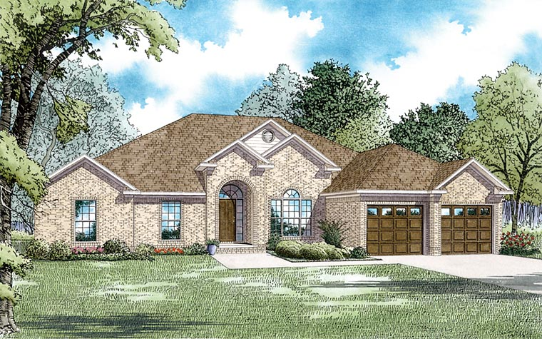 European Traditional House Plan 62211 Elevation