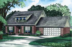 House Plan 62214 Elevation