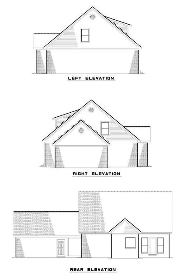 House Plan 62214 Rear Elevation