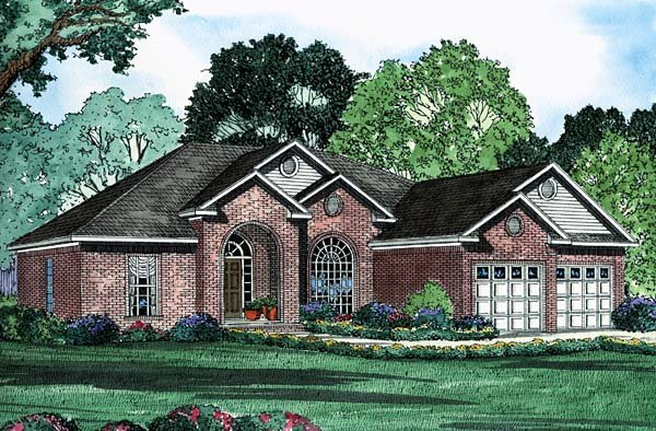 House Plan 62215 Elevation
