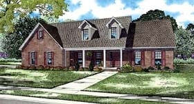 House Plan 62216 | Style Plan with 2320 Sq Ft, 3 Bedrooms, 3 Bathrooms, 2 Car Garage Elevation