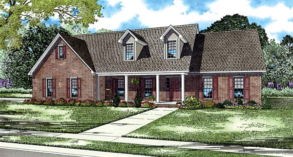 House Plan 62216 Elevation