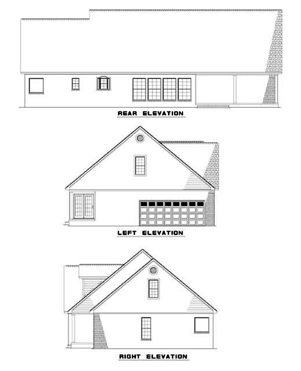 House Plan 62216 Rear Elevation