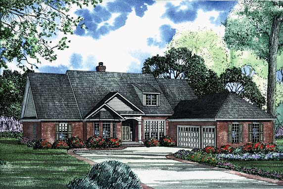House Plan 62217 Elevation