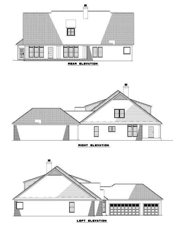 House Plan 62217 Rear Elevation