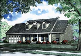House Plan 62218 | Country Traditional Style Plan with 2250 Sq Ft, 4 Bedrooms, 2 Bathrooms, 2 Car Garage Elevation