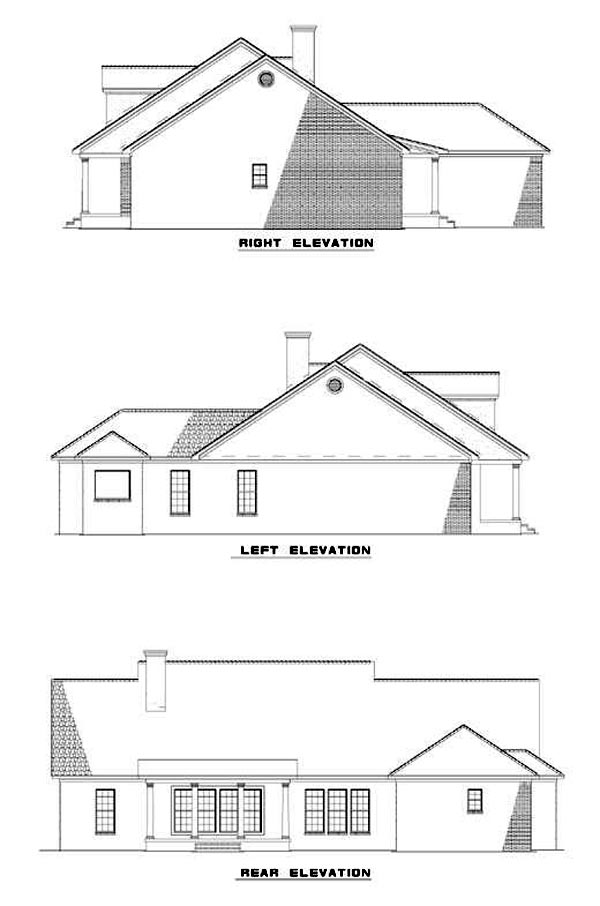 Country Traditional House Plan 62218 Rear Elevation