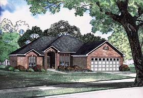 European Traditional House Plan 62219 Elevation