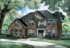 House Plan 62220 with 5 Beds, 4 Baths, 2 Car Garage Elevation