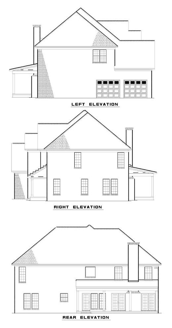 House Plan 62220 Rear Elevation