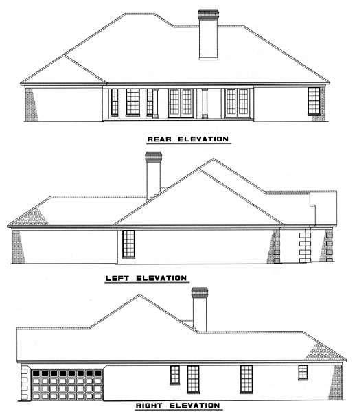 House Plan 62222 Rear Elevation