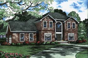 House Plan 62223 | Style Plan with 2802 Sq Ft, 4 Bedrooms, 4 Bathrooms, 3 Car Garage Elevation