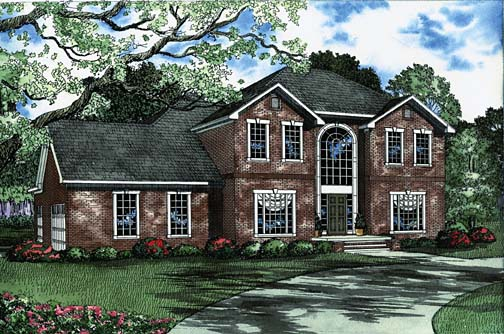 House Plan 62223 with 4 Beds, 4 Baths, 3 Car Garage Elevation
